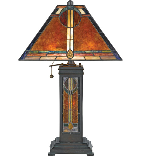 Quoizel Lighting Museum of New Mexico 2 Light Table Lamp in Valiant Bronze NX615TVA photo