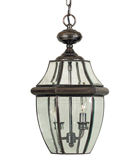 Quoizel Lighting Newbury 2 Light Outdoor Hanging Lantern in Aged Copper NY1178AC photo