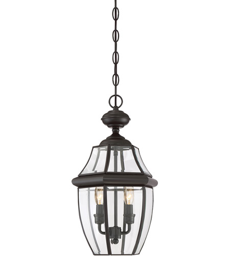 Quoizel Lighting Newbury 2 Light Outdoor Hanging Lantern in Medici Bronze NY1178Z photo