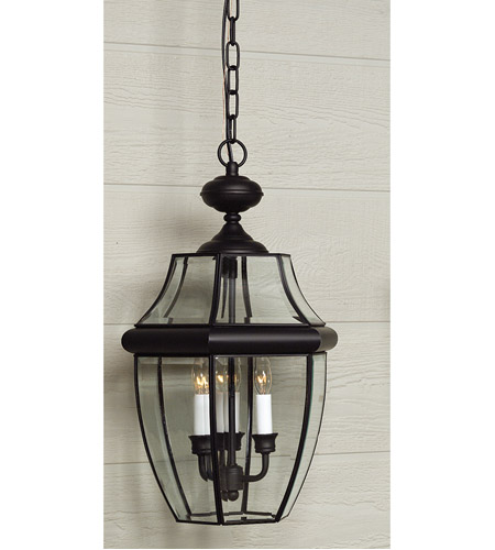 Quoizel Lighting Newbury 3 Light Outdoor Hanging Lantern in Mystic Black NY1179K photo