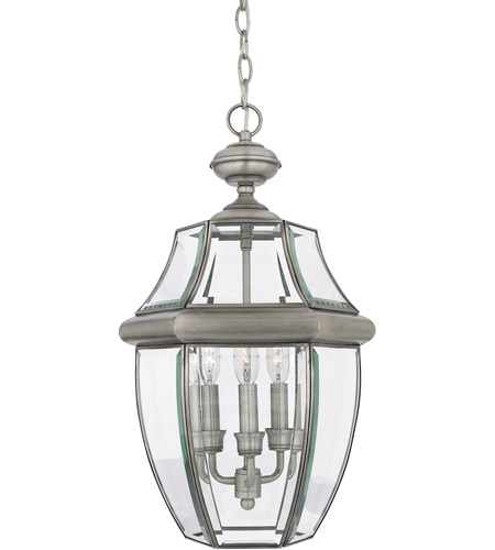 Quoizel Lighting Newbury 3 Light Outdoor Hanging Lantern in Pewter NY1179P photo