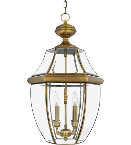Quoizel NY1180A Newbury 4 Light 16 inch Antique Brass Outdoor Hanging Lantern photo
