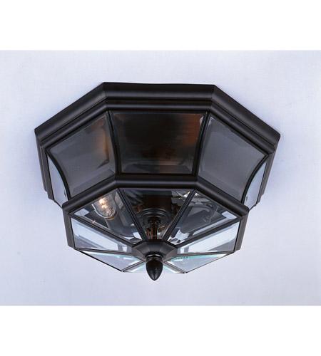 Quoizel Lighting Newbury 3 Light Outdoor Semi Flush Mount In Mystic Black Ny1794k