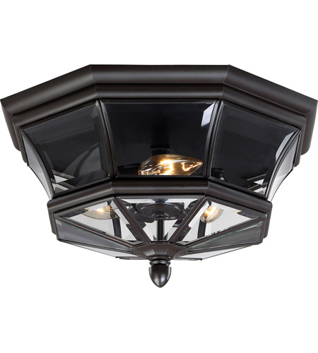 Quoizel NY1794Z Newbury 3 Light 15 inch Medici Bronze Outdoor Semi-Flush Mount photo