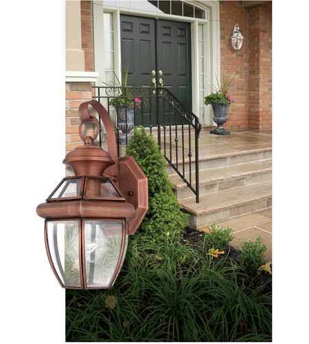 Quoizel NY8315AC Newbury 1 Light 13 inch Aged Copper Outdoor Wall Lantern photo
