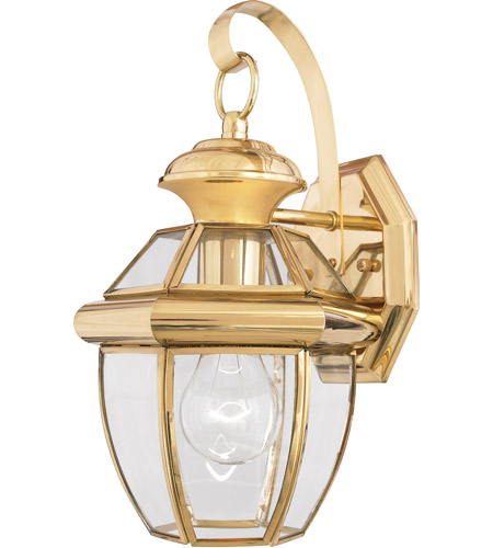 Quoizel NY8315B Newbury 1 Light 13 inch Polished Brass Outdoor Wall Lantern photo
