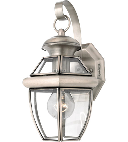 Quoizel Lighting Newbury 1 Light Outdoor Wall Lantern in Pewter NY8315P photo