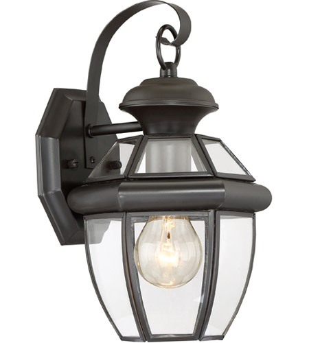 Quoizel Lighting Newbury 1 Light Outdoor Wall Lantern in Medici Bronze NY8315Z