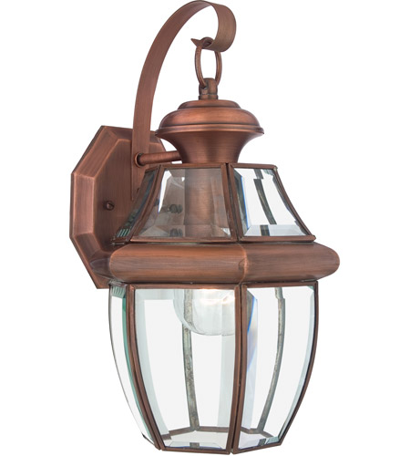 quoizel ny8316ac newbury 1 light 14 inch aged copper outdoor wall