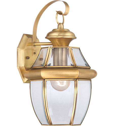 Quoizel Lighting Newbury 1 Light Outdoor Wall Lantern in Polished Brass NY8316B photo