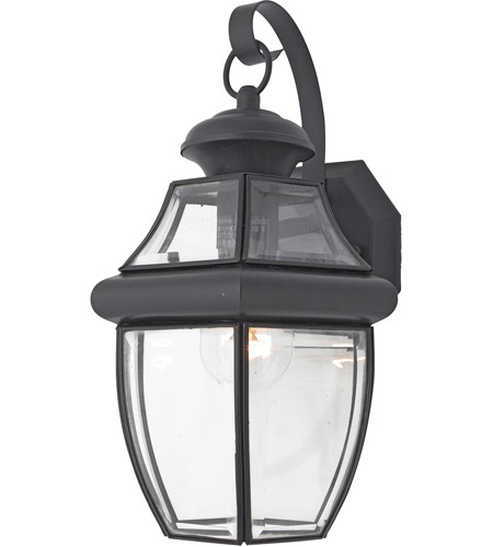 Quoizel Lighting Newbury 1 Light Outdoor Wall Lantern in Mystic Black NY8316K photo