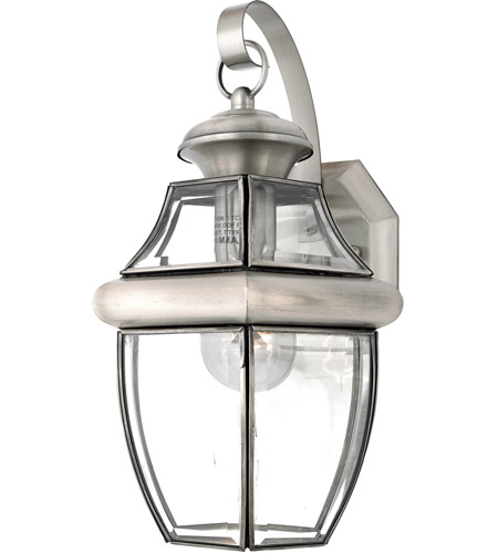 Quoizel Lighting Newbury 1 Light Outdoor Wall Lantern in Pewter NY8316P photo