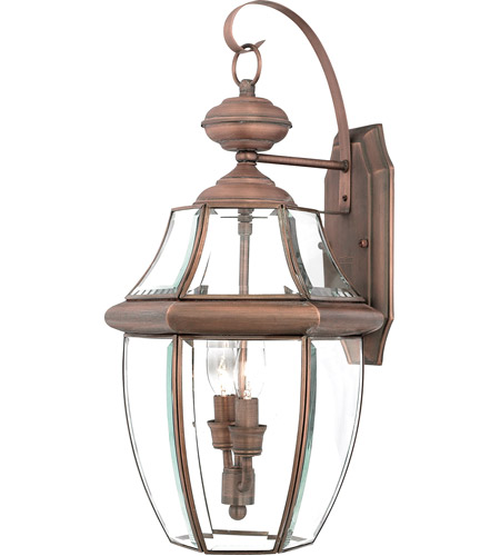 Quoizel NY8317AC Newbury 2 Light 20 inch Aged Copper Outdoor Wall Lantern  photo