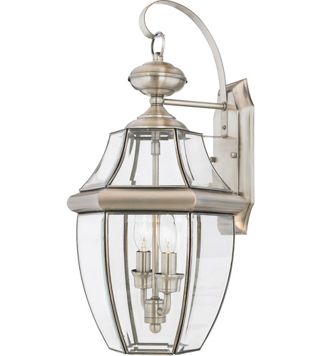 quoizel ny8317p newbury 2 light 20 inch pewter outdoor wall lantern