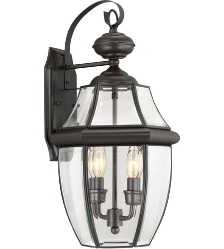 Quoizel Lighting Newbury 2 Light Outdoor Wall Lantern in Medici Bronze NY8317Z photo
