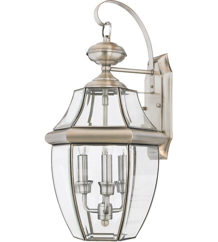 Quoizel Ny8318p Newbury 3 Light 23 Inch Pewter Outdoor Wall Lantern