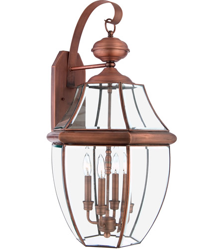 Quoizel NY8339AC Newbury 4 Light 29 inch Aged Copper Outdoor Wall Lantern photo