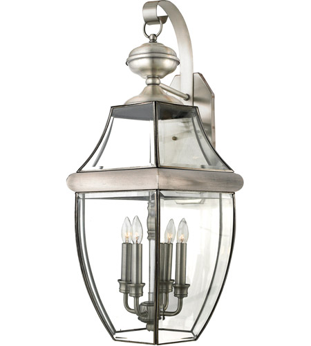 Quoizel NY8339P Newbury 4 Light 29 inch Pewter Outdoor Wall Lantern photo