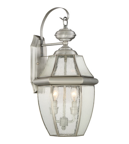 Newbury 2 Light 20 Inch Pewter Outdoor Wall Lantern