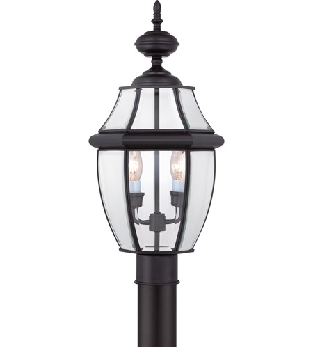 Quoizel NY9042K Newbury 2 Light 21 inch Mystic Black Outdoor Post Lantern photo