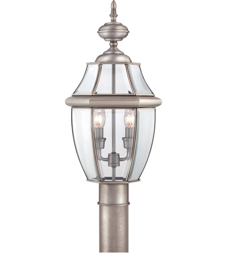 Quoizel NY9042P Newbury 2 Light 21 Inch Pewter Outdoor Post Lantern