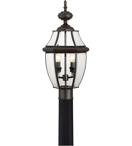 Quoizel NY9042Z Newbury 2 Light 21 inch Medici Bronze Outdoor Post Lantern photo