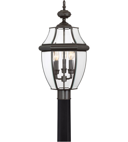 Quoizel NY9043Z Newbury 3 Light 23 inch Medici Bronze Outdoor Post Lantern photo