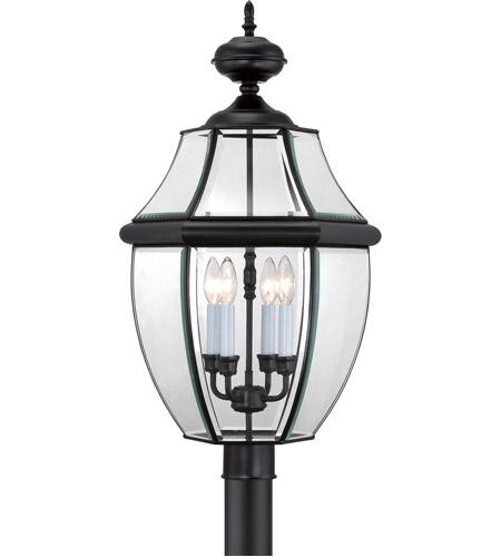 Quoizel Outdoor Lighting Newbury: Quoizel NY9045K Newbury 4 Light 30 Inch Mystic Black