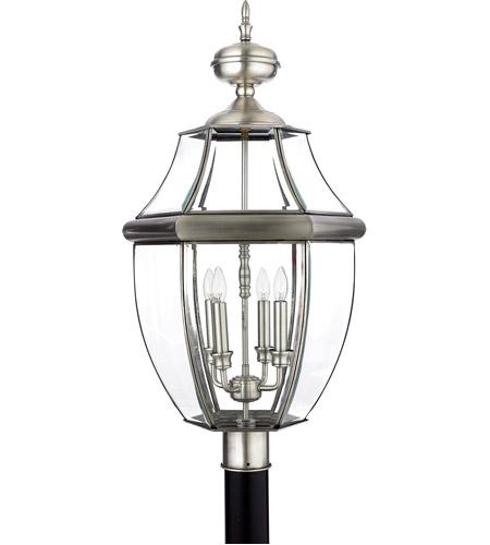 quoizel ny9045p newbury 4 light 30 inch pewter outdoor post lantern