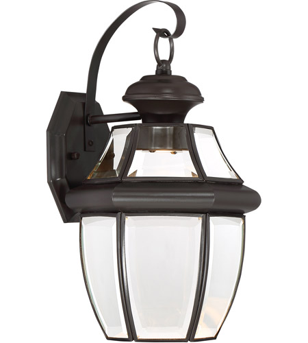 Quoizel NYCL8409Z Newbury Clear LED 14 inch Medici Bronze Outdoor Wall Lantern photo