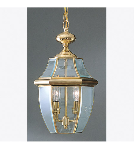Quoizel NY1178B Newbury 2 Light 10 inch Polished Brass Outdoor Hanging Lantern photo
