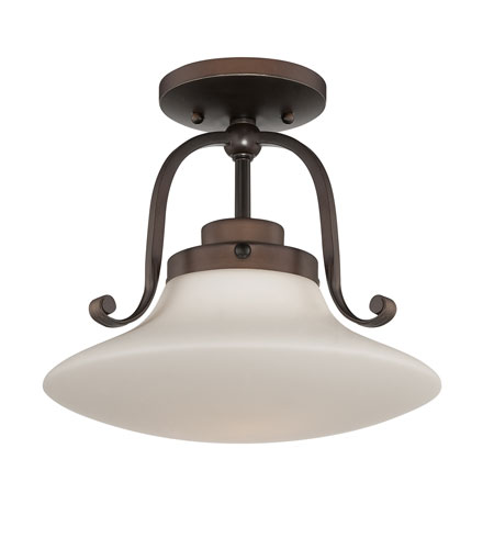 Quoizel Lighting Olympia 1 Light Semi-Flush Mount in Palladian Bronze OA1712PN photo