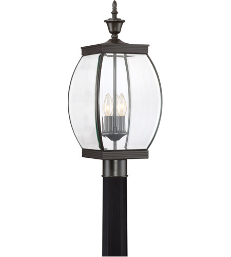 Quoizel OAS9009Z Oasis 3 Light 22 inch Medici Bronze Outdoor Post Lantern photo