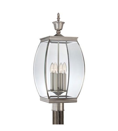 Quoizel OAS9011P Oasis 4 Light 27 inch Pewter Post Lantern photo