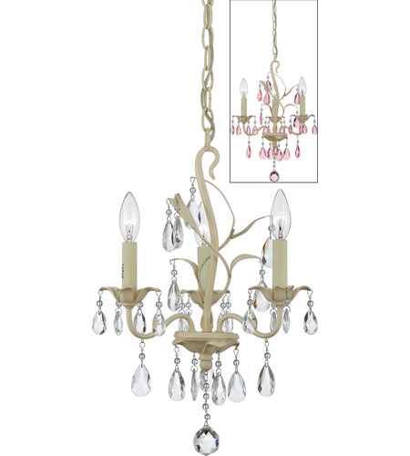 Quoizel Lighting Ophelia 3 Light Chandelier in Antique Ivory OE5003AY photo