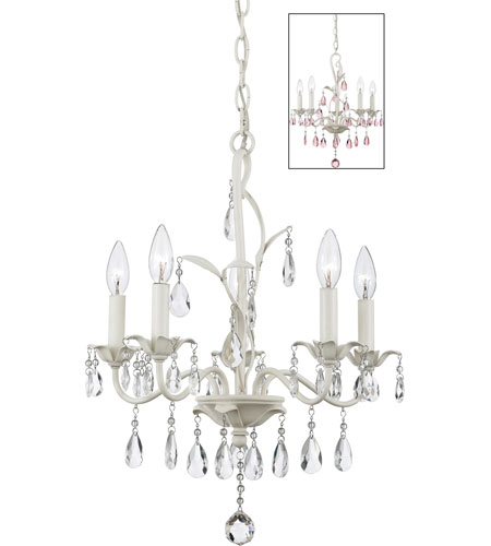 Quoizel Lighting Ophelia 5 Light Chandelier in Antique Ivory OE5005AY photo