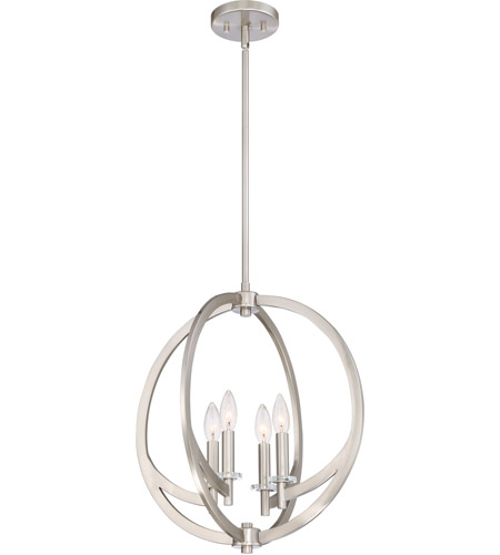 Quoizel On2818bn Orion 4 Light 18 Inch Brushed Nickel Pendant Ceiling