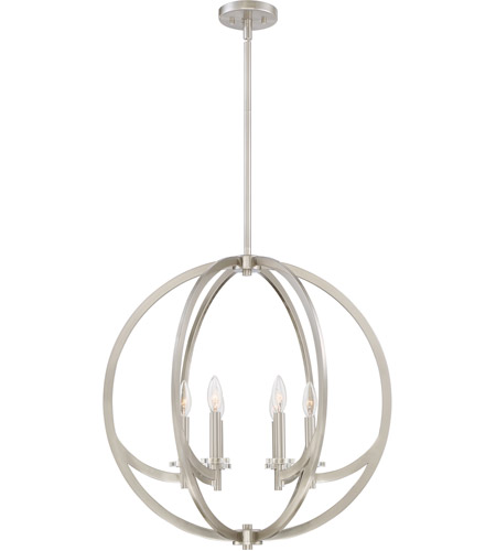 Quoizel on2824bn orion 6 light 24 inch brushed nickel foyer pendant quoizel on2824bn orion 6 light 24 inch brushed nickel foyer pendant ceiling light aloadofball Choice Image