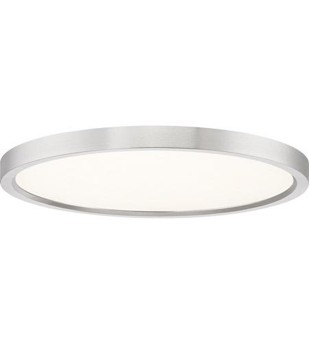 Quoizel Ost1715bn Outskirt Led 15 Inch Brushed Nickel Flush Mount Ceiling Light Photo