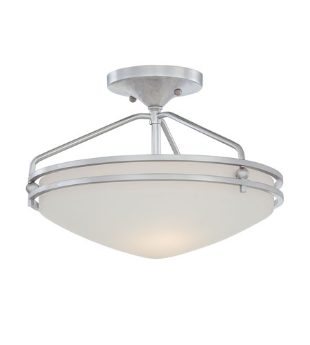 Quoizel Lighting Ozark 2 Light Semi-Flush Mount in Polished Chrome OZ1713C photo