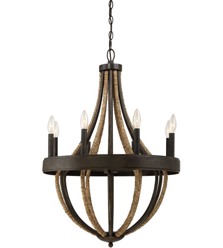 Quoizel Pb5008tk Pembroke 8 Light 23 Inch Tarnished Bronze Chandelier Ceiling In B10 Candelabra Base Naturals