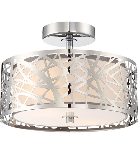 Quoizel PCAE1712C Platinum 2 Light 12 inch Polished Chrome Semi-Flush Mount Ceiling Light  photo