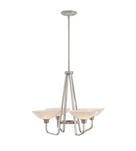 Quoizel Lighting Phoenix 4 Light Chandelier in Brushed Nickel PHO5004BN photo