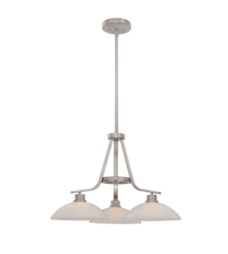 Quoizel Lighting Phoenix 3 Light Chandelier in Brushed Nickel PHO5103BN photo