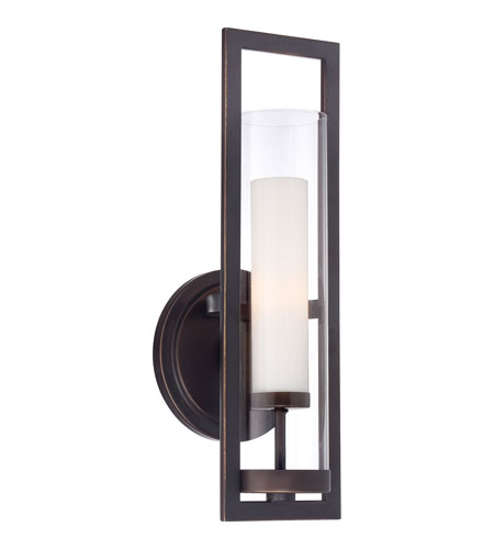 Quoizel Lighting Pier 1 Light Wall Sconce in Palladian Bronze PIE8701PN