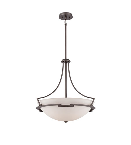 Quoizel Lighting Parkston 4 Light Pendant in Powder Grey PN2822PY photo