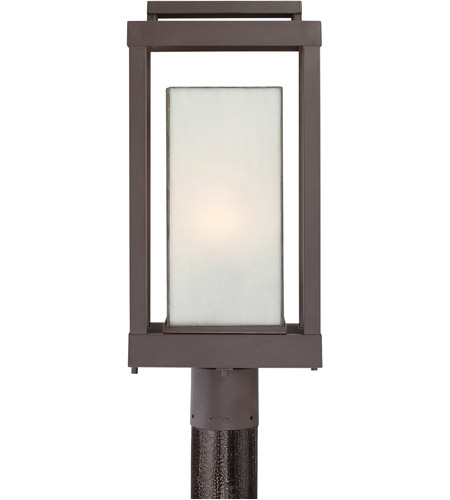 quoizel pwl9009wt powell 1 light 21 inch western bronze outdoor post