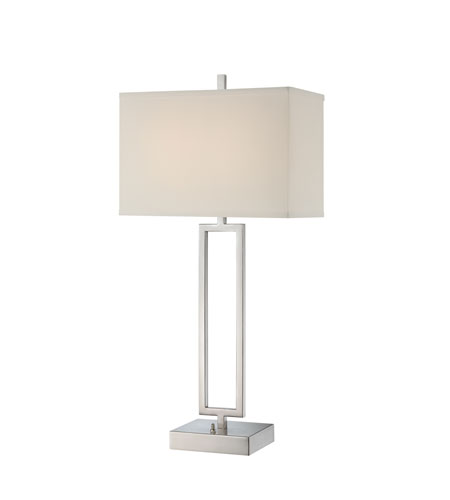 Quoizel Lighting Portable Lamp 2 Light Table Lamp in Brushed Nickel Q1206TBN photo
