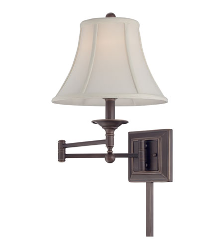 Quoizel Lighting Signature 1 Light Swing Arm Wall Light in Palladian Bronze Q1560PN photo