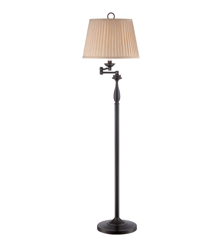 signature 59 inch 100 watt palladian bronze floor lamp portable light. Black Bedroom Furniture Sets. Home Design Ideas